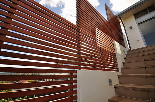 Merbau Timber Screening Adds Privacy and Value to Your Home