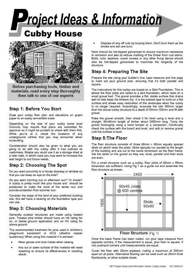 How to Build a Cubby House