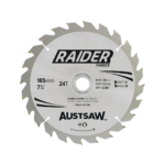 Austsaw Raider Timber Blade 185mm x20/16 Bore x24 T Thin Kerf