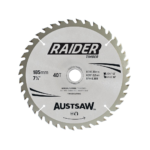 Austsaw Raider Timber Blade 185mm x20/16 Bore x40 T Thin Kerf